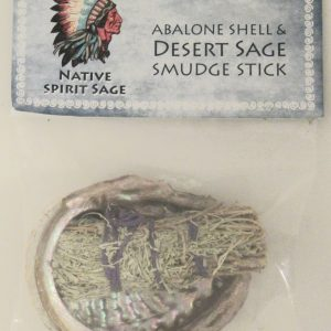 Healing Light Online Psychic Readings and Merchandise Mini Sage Smudge Stick with Abalone Shell