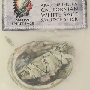 Healing Light Online Psychic Readings and Merchandise Small White sage smudge Stick with abalone shell