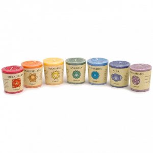 Healing Light Online Psychic Readings and Merchandise Chakra Candle set with essential oils