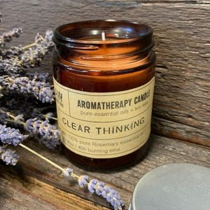 Healing Light Online Psychic Readings and Merchandise Clear Thinking Aromatherapy candle with Pure essential Oils