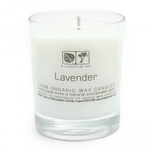 Healing Light Online Psychic Readings and Merchandise Large Lavender Aromatherapy candle with organic wax