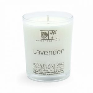Healing Light Online Psychic Readings and Merchandise Small Lavender Aromatherapy candle with organic wax