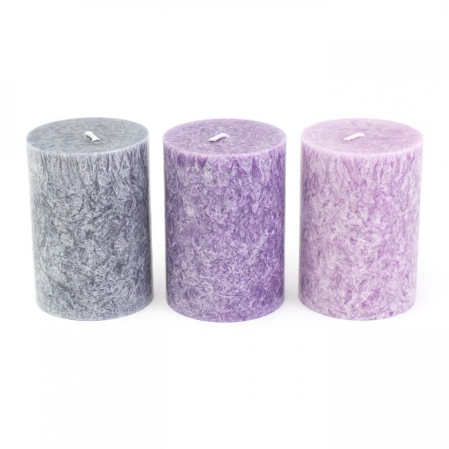 Healing Light Online Psychic Readings and Merchandise Set of 3 Mindfulness candles with Natural Palm wax