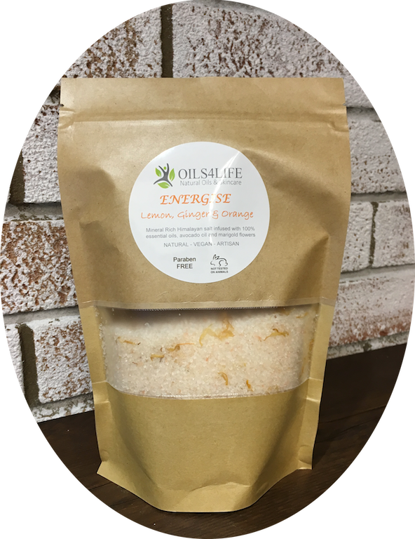Healing Light Online Psychic Readings and Merchandise Energise-Organic Himalayan Bath salts from Oils4life