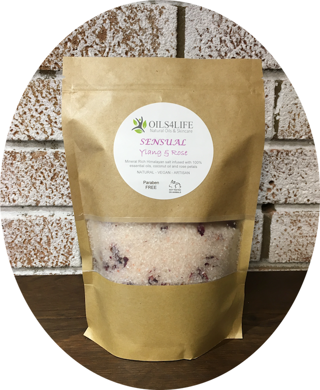 Healing Light Online Psychic Readings and Merchandise Sensual- Organic Himalayan Bath Salts Oils4Life