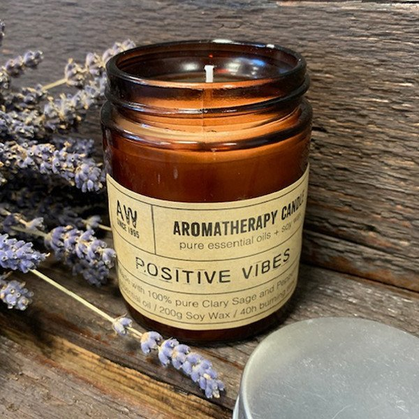 Healing Light Online Psychic Readings and Merchandise Positive Vibes Aromatherapy candle with Pure essential Oils