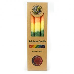 Healing Light Online Psychic Readings and Merchandise Set of 3 Rainbow Candles with Searin Wax