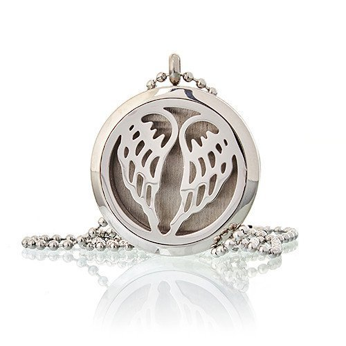 Healing Light Online Psychic Readings and Merchandise Aromatherapy Diffuser Necklace Angel Wings by Oils4Life
