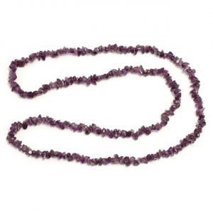 Healing Light Online Psychic Readings and Merchandise Amethyst Chip Necklace 32 inch