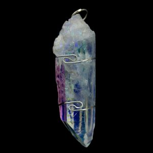 Healing Light Online Psychic Readings and Merchandise Angel Aura Quarz Wire Wrap Pendant