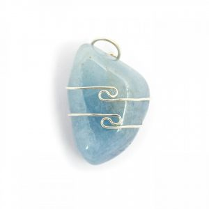 Healing Light Online Psychic Readings and Merchandise Aqua Marine Wire Wrap Pendant