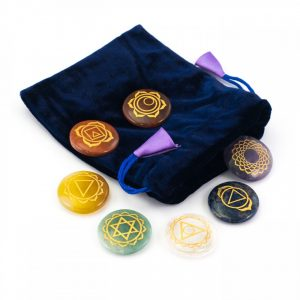 Healing Light Online Psychic Readings and Merchandise Chakra Disc set with symbols