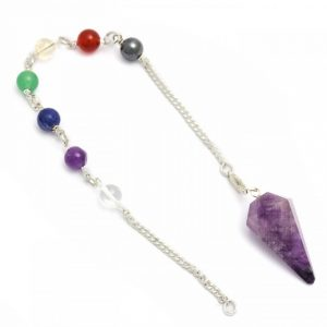 Healing Light Online Psychic Readings and Merchandise Chakra Pendulum Amethyst