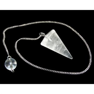 Healing Light Online Psychic Readings and Merchandise Clear Quartz Cone Pendulum