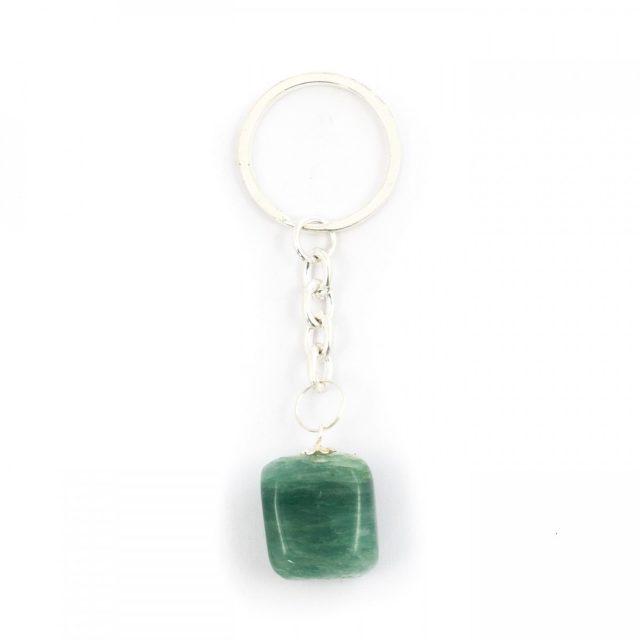 Healing Light Online Psychic Readings and Merchandise Green Aventurine Tumblestone Keyring