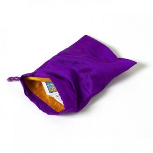 Healing Light Online Psychic Readings and Merchandise Large Purple Silk Bag for Tarot