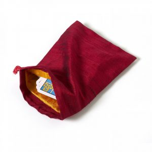 Healing Light Online Psychic Readings and Merchandise Large Red Silk Bag for Tarot
