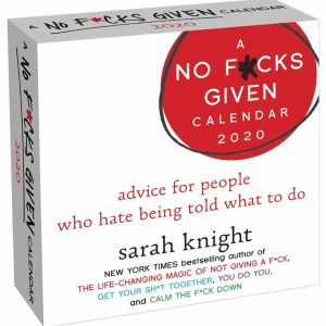 Healing Light Online A No F*cks given calendar 2020 by Sarah Knight fo