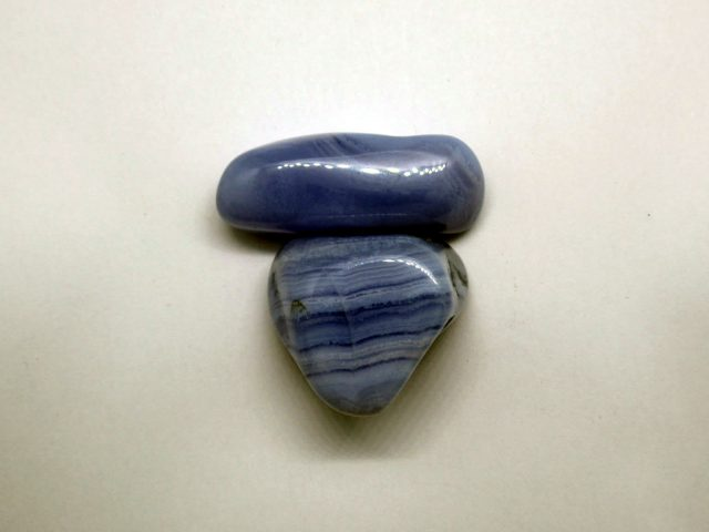 Healing Light Online Psychic Readings and Merchandise Blue Lace Banded Agate Tumblestone
