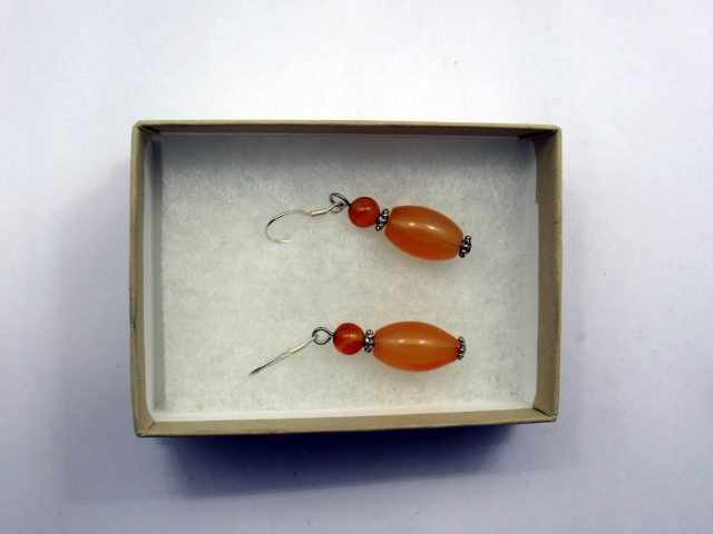 Healing Light Online Psychic Readings and Merchandise Carnelian Bead Style Earrings