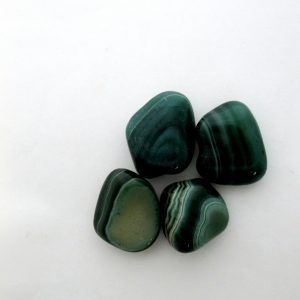 Healing Light Online Psychic Readings and MerchandiseGreen Banded Agate Tumblestone
