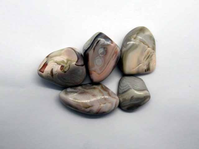 Healing Light Online Psychics New Age Shop Pink Agate Tumblestones