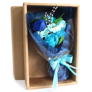 Healing Light Online Psychics and New-Age Shop Soap Flower Boxed Hand Bouquet Blue for Sale