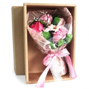 Healing Light Online Psychics and New-Age Shop Soap Flower Boxed Hand Bouquet Pink for Sale