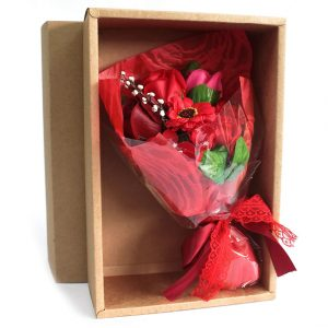 Healing Light Online Psychics and New-Age Shop Soap Flower Boxed Hand Bouquet Red for Sale