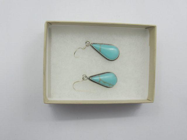 Healing Light Online Psychics New Age Shop Merchandise Turquoise Teardrop Drop Earrings