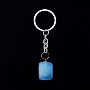 Healing Light Online Psychic Readings and Merchandise Opalite Tumblestone Keyring