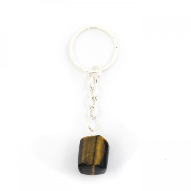 Healing Light Online Psychic Readings and Merchandise Golden Tigers Eye Tumblestone Keyring
