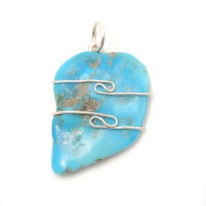 Healing Light Online Psychic Readings and Merchandise Turqouise Wire Wrap Pendant