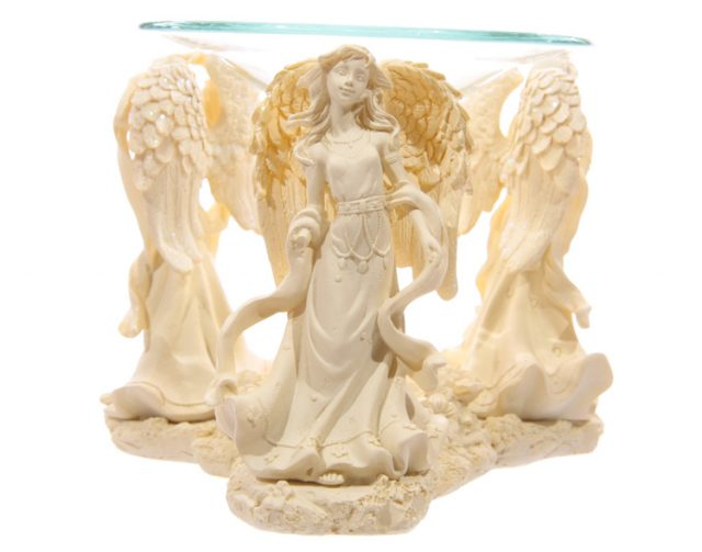 Healing Light Online Psychic Readings and Merchandise Essential Oil burner with Praying Angels