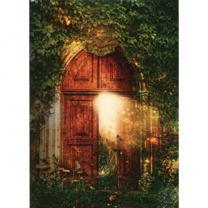 Healing Light Online Psychic Readings and Merchandise Open Door Blank Greeting Card by Tree Free