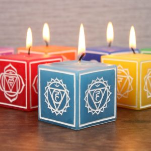 Healing Light Online Psychic Readings and Merchandise Large chakra Candle Set