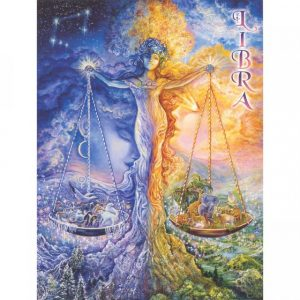 Healing Light Online Psychic Readings and Merchandise Zodiac Greeting Card Libra by Jospephine Wall