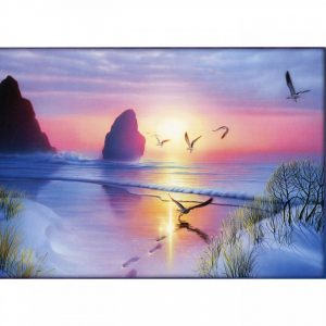 Healing Light Online Psychic Readings and Merchandise Radiant Seashore Blank Greeting Card by Tree Free