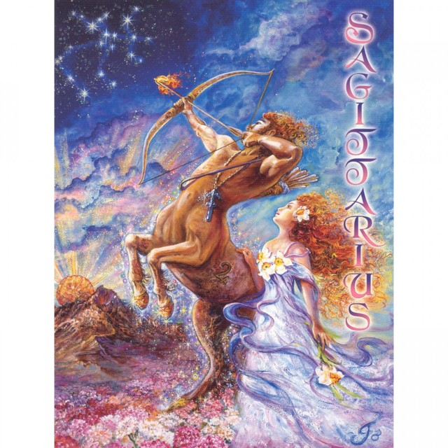 Healing Light Online Psychic Readings and Merchandise Zodiac greeting Card Sagittarius by Josephine Wall