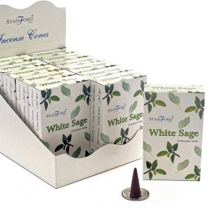 Healing Light Online Psychic Readings and Merchandise White sage incense cones by Back flow