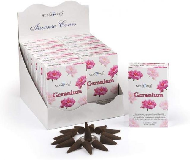 Healing Light Online Psychic Readings and Merchandise Geranium Incense cones by Backflow