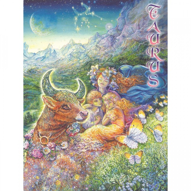 Healing Light Online Psychic Readings and Merchandise Zodiac Greeting Card Taurus by Josephine Wall