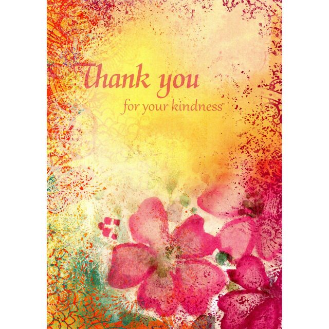 Healing Light Online Psychic Readings and Merchandise Thank you For Your Kindness Greeting card by Tree Free