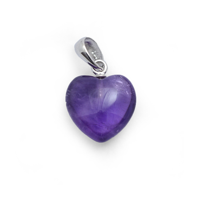 Healing Light Online Psychic Readings and Merchandise small Amethyst Pendant Heart