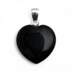 Healing Light Online Psychic Readings and Merchandise Black Obsidian Pendant Heart