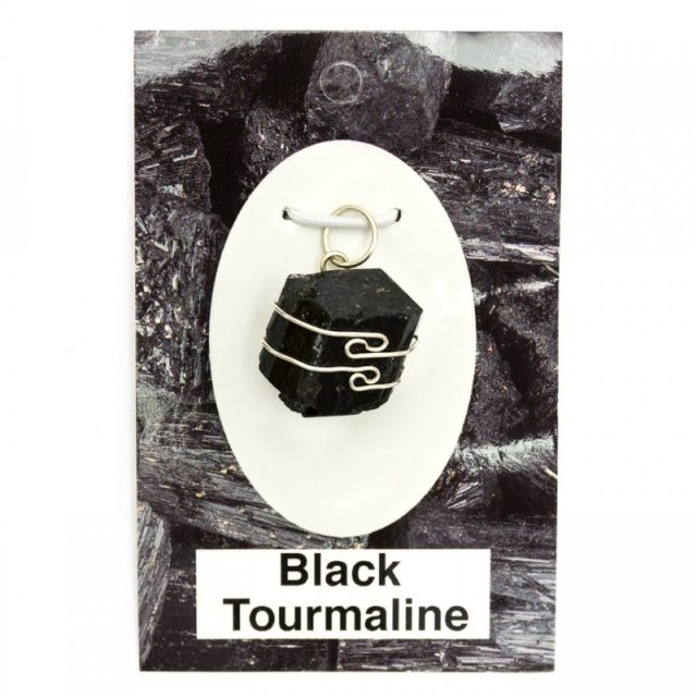 Healing Light Online Psychic Readings and Merchandise Black Tourmaline Wire Wrap Pendant