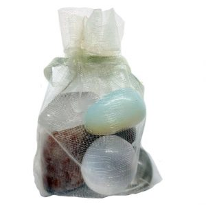 Healing Light Meditation Pack Crystals to aid Meditation Crystals in Bag
