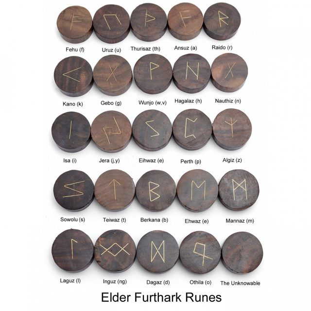 Healing Light Online Psychic Readings and Merchandise Hand Carved Rune Set