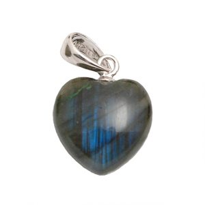 Healing Light Online Psychic Readings and Merchandise small Labadorite Pendant Heart