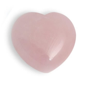 Worry Heart Rose Quartz for sale online